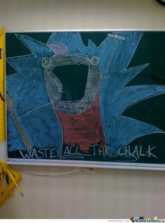 Waste all the chalk!!!