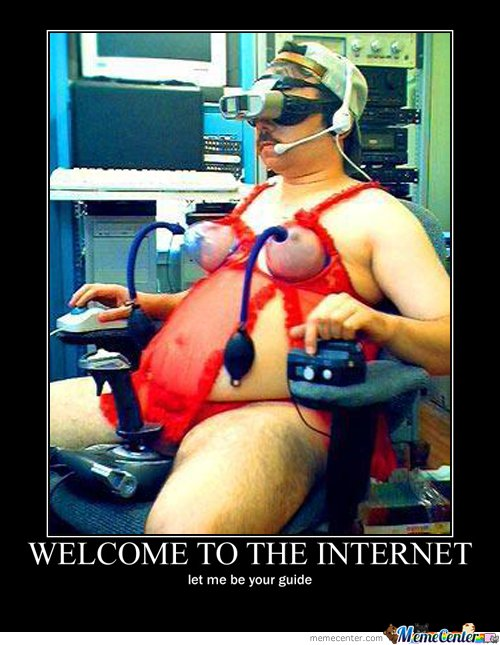 Welcome to internet , i'll be your guide