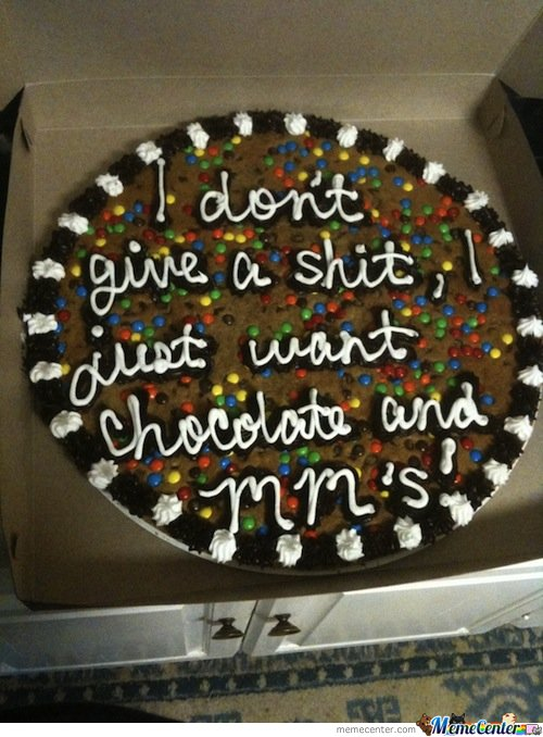 What Do You Want The Cookie Cake To Say?