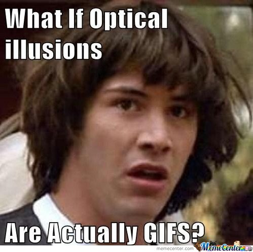What If Optical Illusions Are Actually Gif