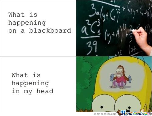 What is happening on a blackboard & what is happening in my head