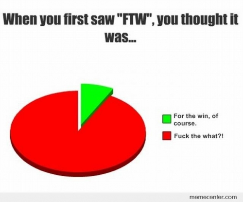 When You First Saw FTW