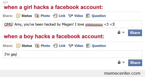 When a Boy/Girl Hacks Facebook Account