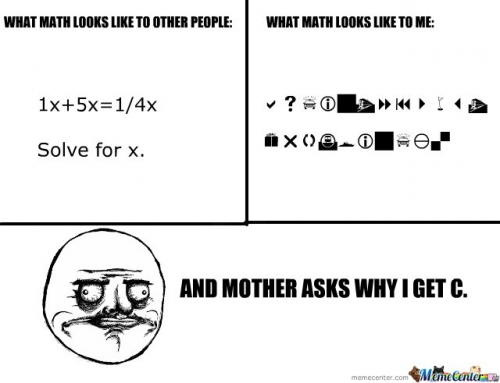 Why I get a C in math.