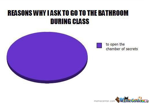 Why I go to the Bathroom in School