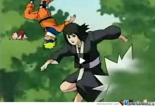 Why is naruto upsidedown?