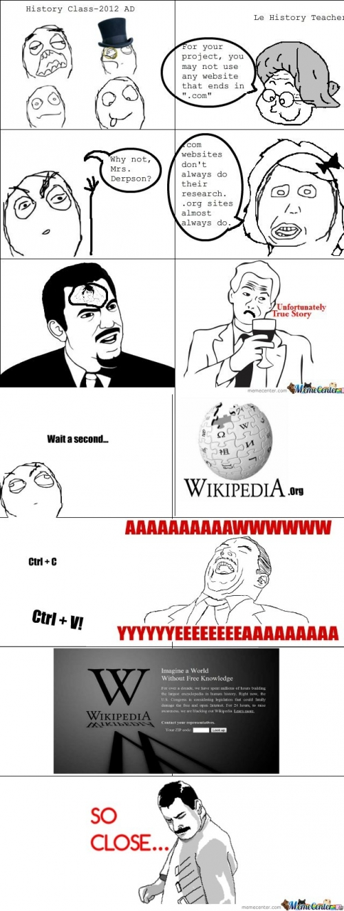 Wikipedia Blackout - Only .Orgs