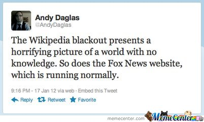 Wikipedia blackout vs Fox News