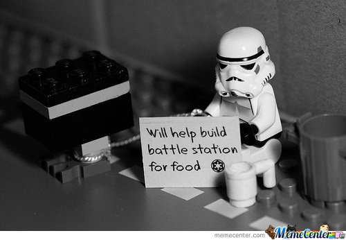Will Help Build Battle Station For Food