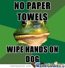 Wipe Hands On Dog