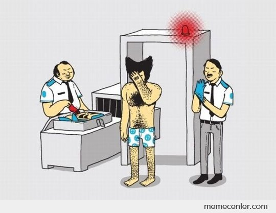 Wolverine's Airport Security Inspection