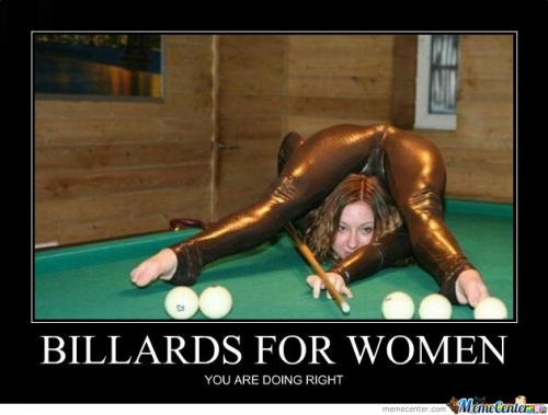 Women Only Should Play Billards Like This