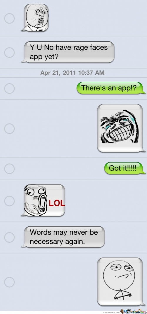 Y U NO Have Rage Faces