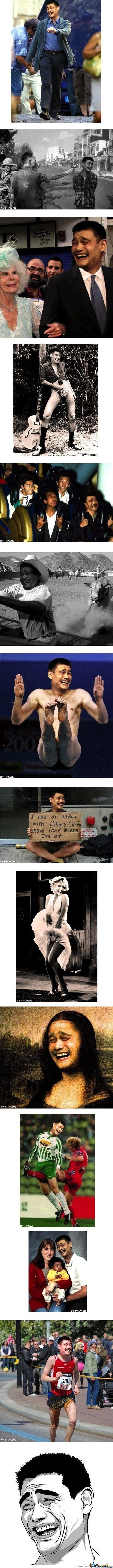 Yao Ming is everywhere!