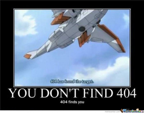 You Don't Find The 404