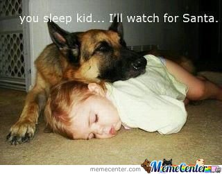 You sleep kid. I'll watch for Santa
