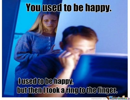 You used to be happy