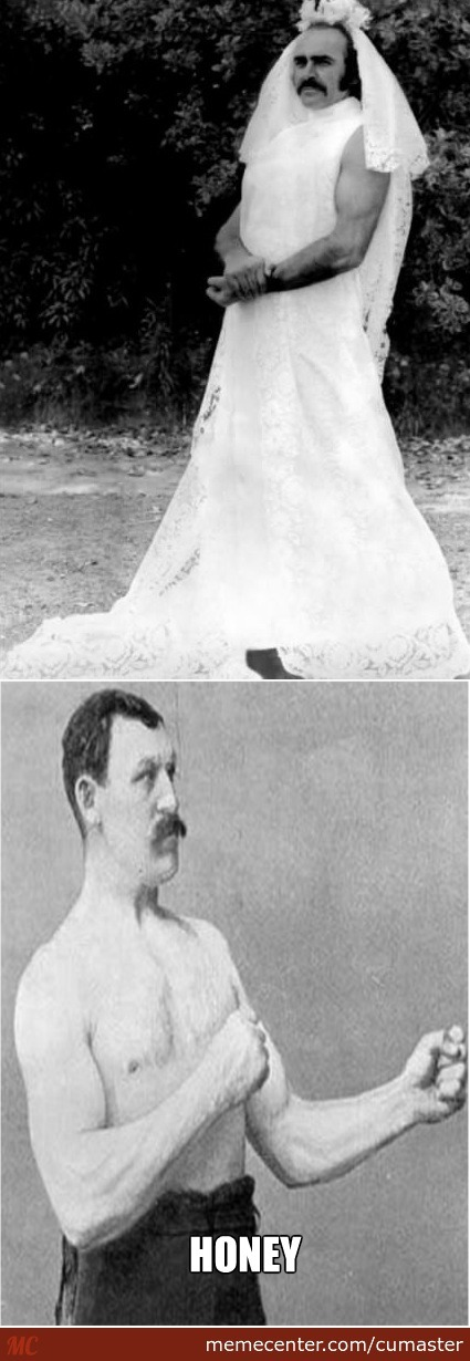 Overly manly man 's wedding
