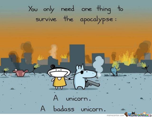 A Badass Unicorn Is Highly Recommended.