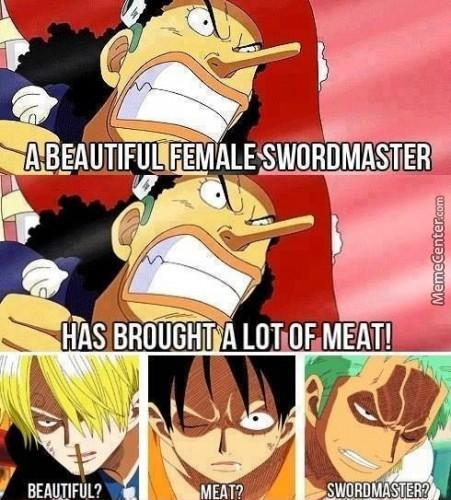 A Beautiful Female Swordmaster Has Brought A Lot Of Meat!
