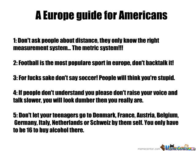 A Europe Guide For Americans