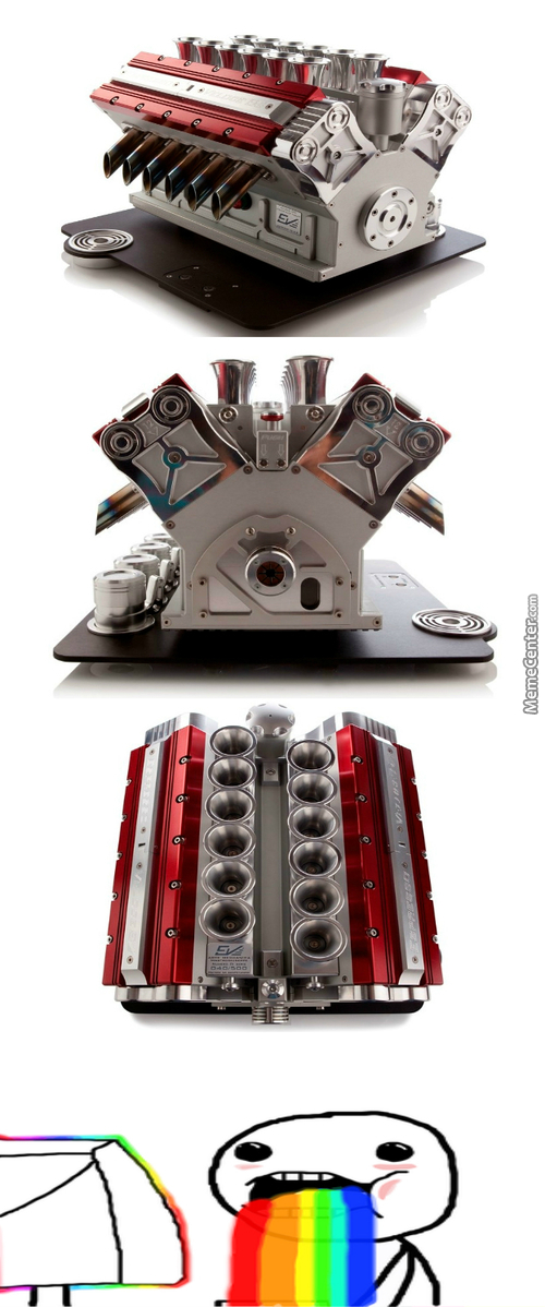 A F1 V12 Engine Inspired Coffee Machine
