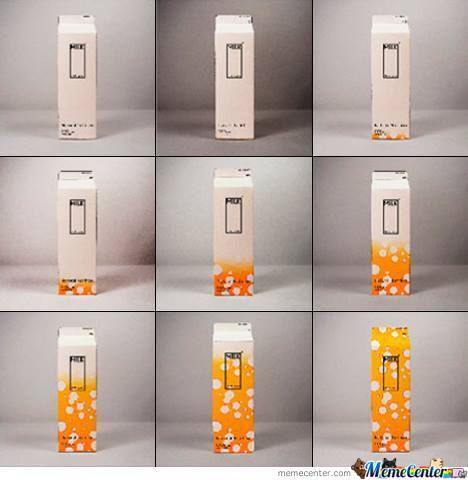 A Milk Carton That Changes Color Closer To Expiration Date