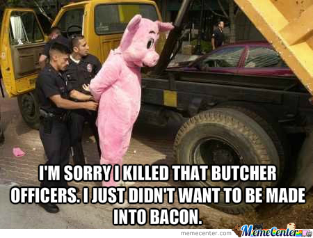 A Pig's Excuse To Kill