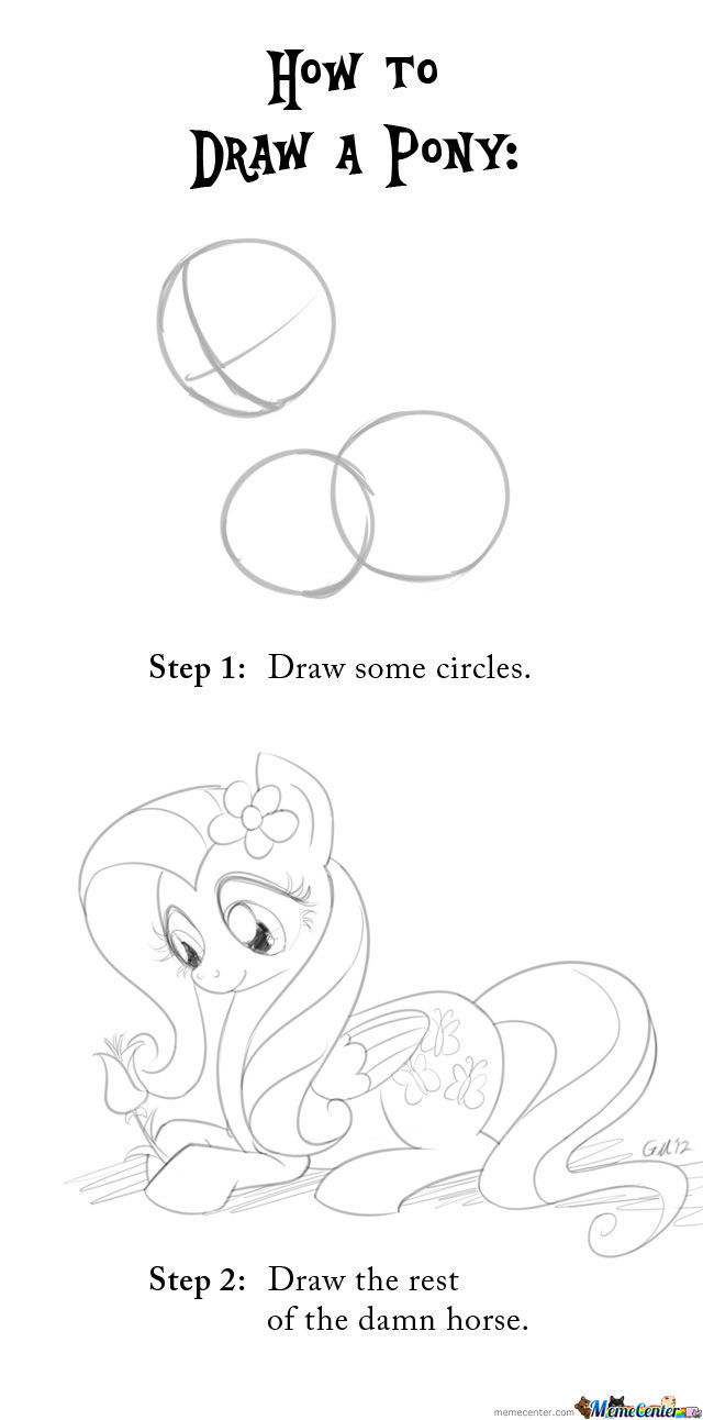 A Quick Guide To Drawing Ponies!