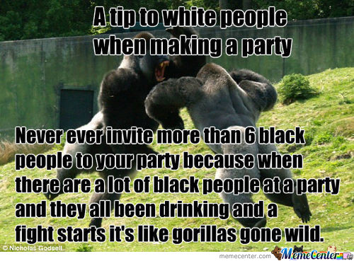 A Tip To White People When Making A Party