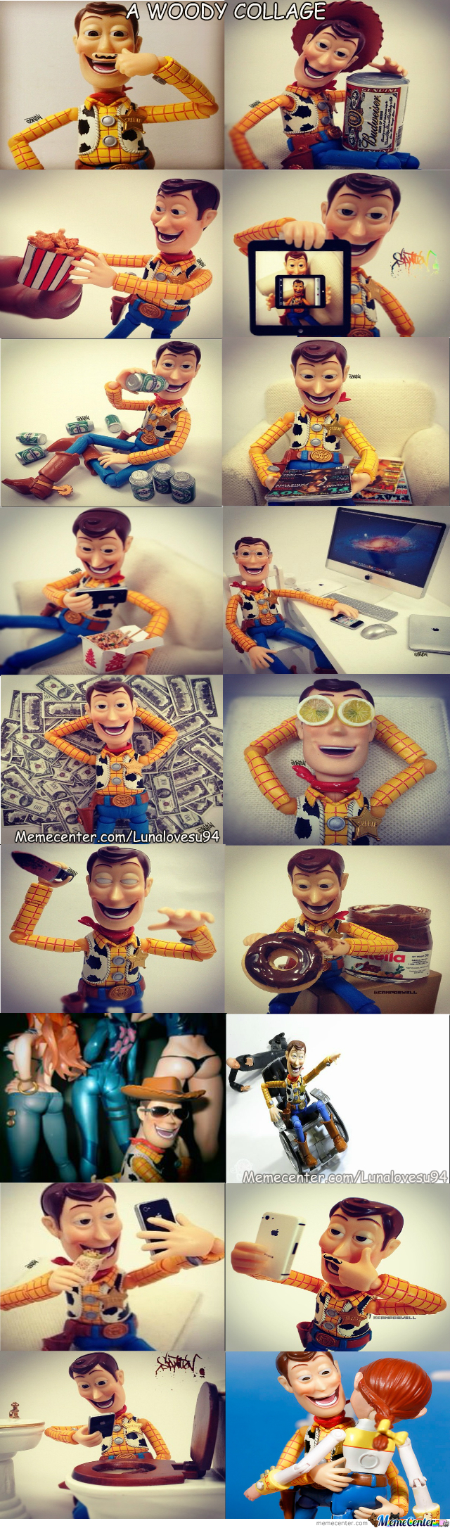 A Woody Collage: The Life Of Woody