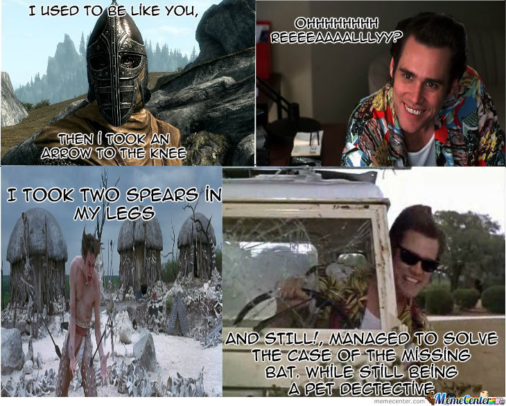 Ace Ventura Vs. Skyrim Guard