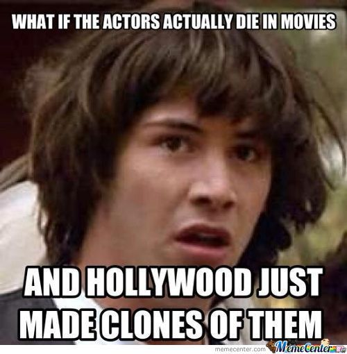 Actors Dying In Movies Theory.