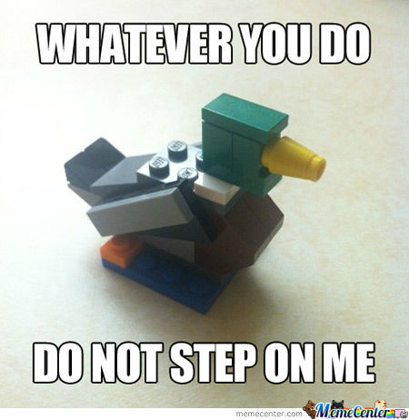 Actual Advice Lego Mallard Says...
