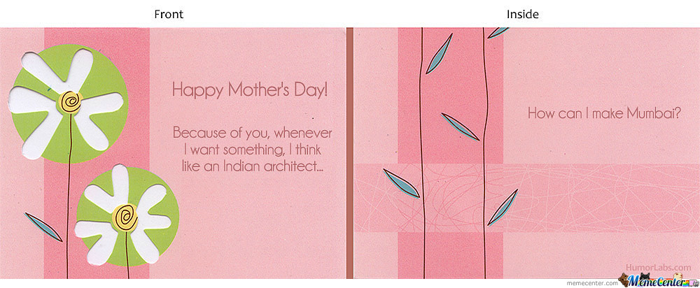 Actual Mother's Day Card