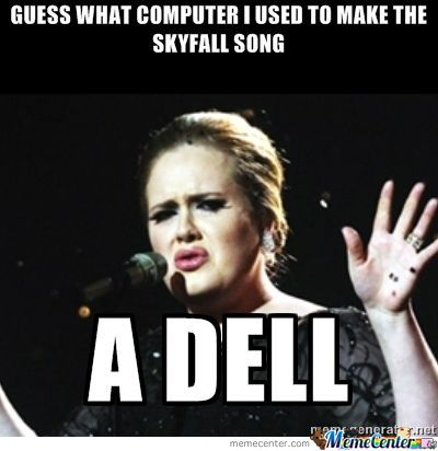 Adele Makes A Funny.