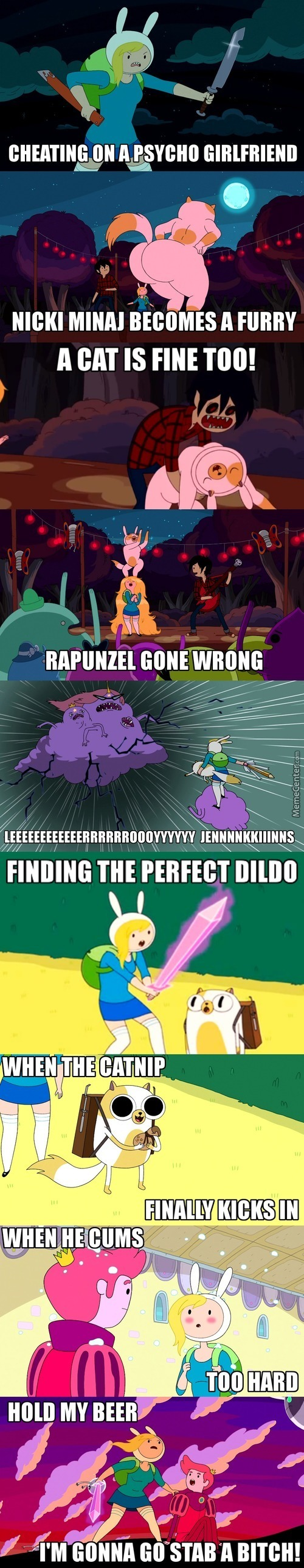 Adventure Time Captioned Images 3-Fionna And Cake Edition