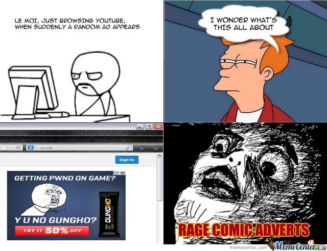 Advertising A Rage Comic Advertisement In A Rage Comic