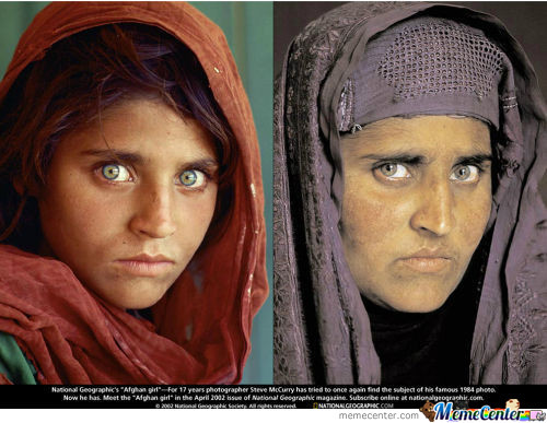 Afghan Girl - 17 Years Later