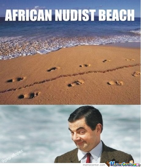 African nudist beach