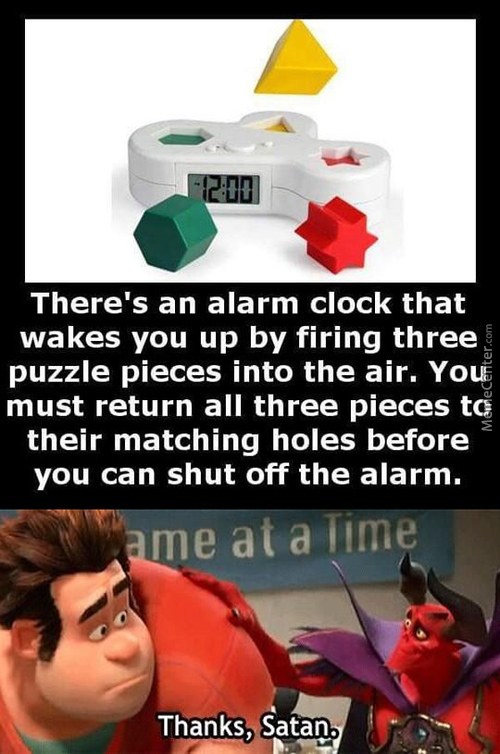 Alarm Clock Of Pure Evil!