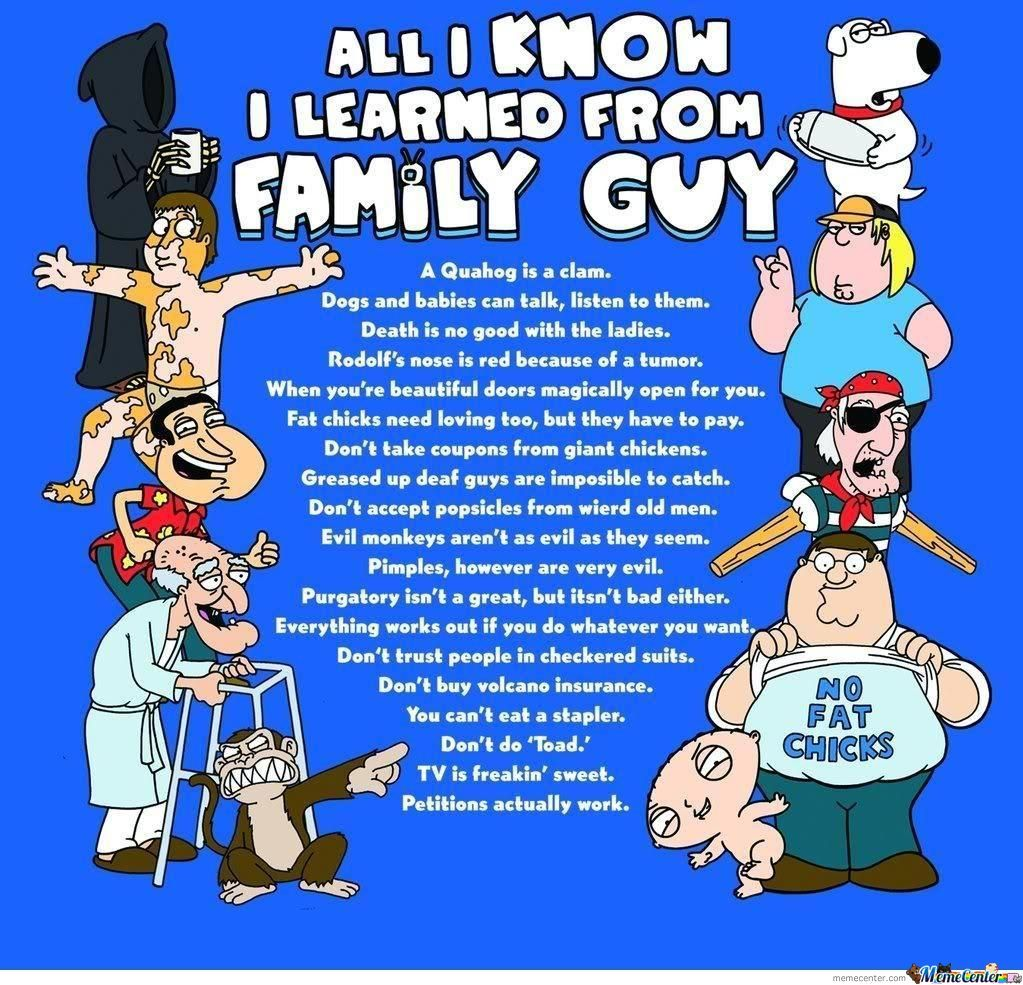All I Know I Learned From Family Guy