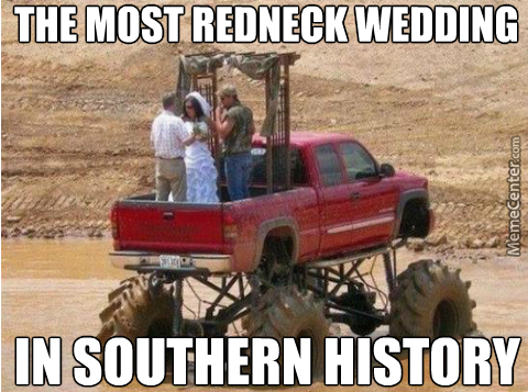 All We Need Is A Banjo Player, A Confederate Flag And The Conformation That The Couple Were From The Same Family Even Before The Wedding