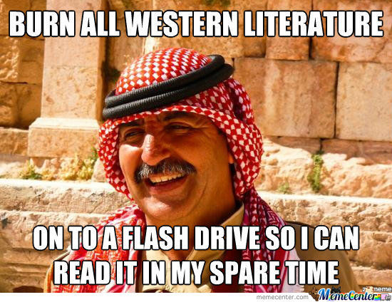 Burn all western literature