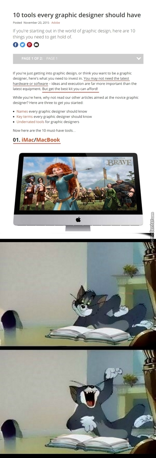 Also, It's A Common Misconception To Own A Mac As A Graphic Designer. It Won't Do Anything Extra For You.