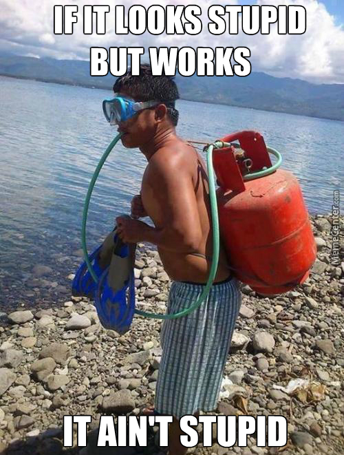 Although I Doubt It Works As Good As A Real Scuba Gear