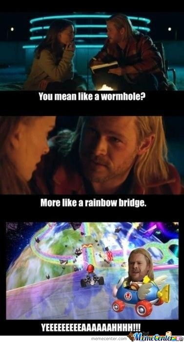 Always Knew Mario Kart Took Place In Asgard