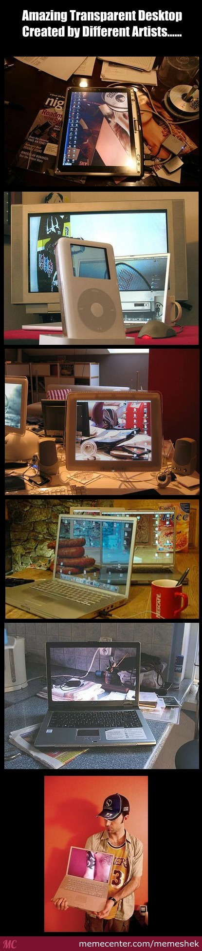 Amazing Transparent Desktop Illusion