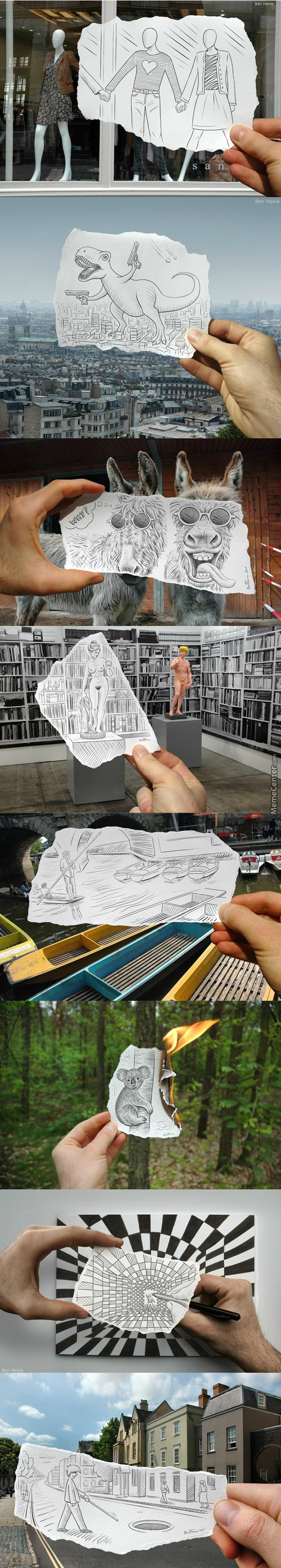 Amazingly Creative Drawing Vs Photography Vol.2