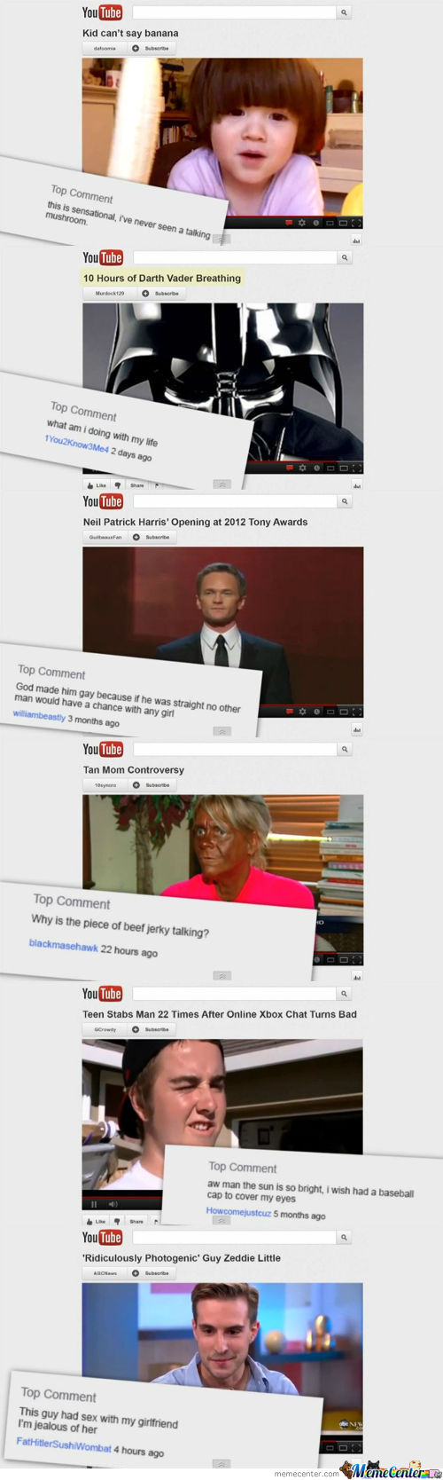 Amazingly Hilarious Youtube Comments